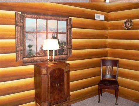 endearing faux log cabin walls with additional best 25 log