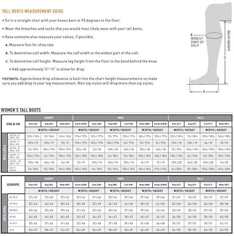 boot size chart ariat boot fit guide fashion boots