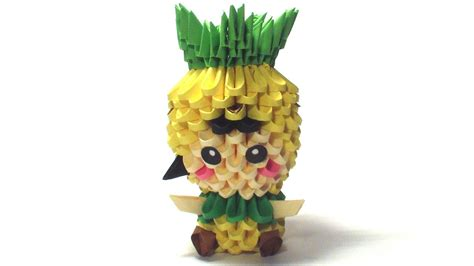 3d Origami Pineapple - 3d origami pineapple