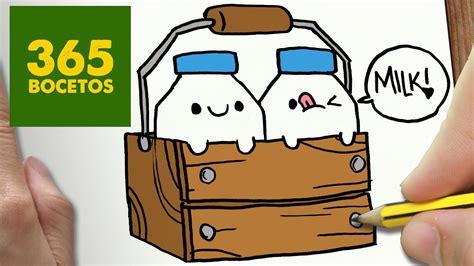 imagenes de animales kawaii 365bocetos como dibujar botellas de leche kawaii paso a paso