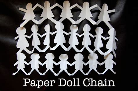 How To Make Paper Doll Chains - 25 unique paper doll chain ideas on on the