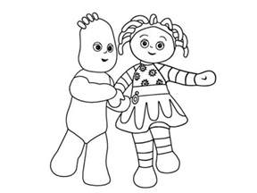 iggle piggle upsy daisy colouring pages