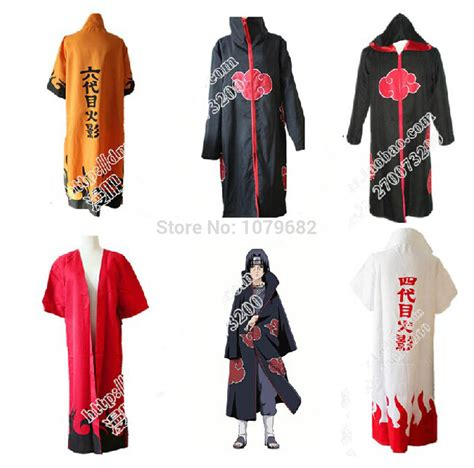 Kameja Kemeja Anime Narutoo Mode Akatsuki robes de mode cheap akatsuki robes