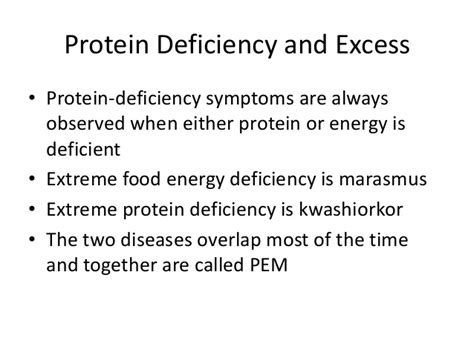 protein 8 deficiency proteins and amino acids
