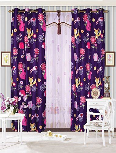 girls owl curtains mk collection 2 panel curtain with grommet teens girls owl