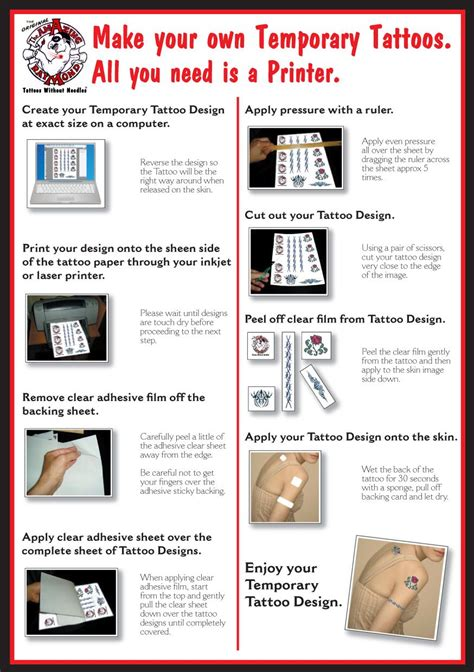 Make Your Own Temporary Paper - temporary tattoos australia for diy paper suitable