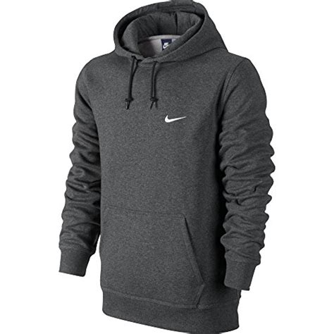 Hoodie Club 1516 nike club swoosh s hoodie grey white 611457 071