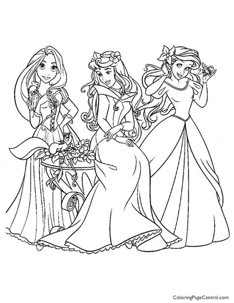 Disney Princesses 10 Coloring Page Coloring Page Central Coloring Pics Of Princesses Free Coloring Sheets