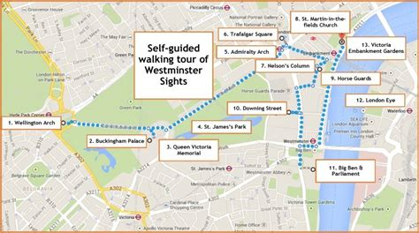 sights map westminster sights a self guided walk in