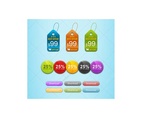 Sale Home Button Berkualitas Discount clean badges and buttons set price tags stickers
