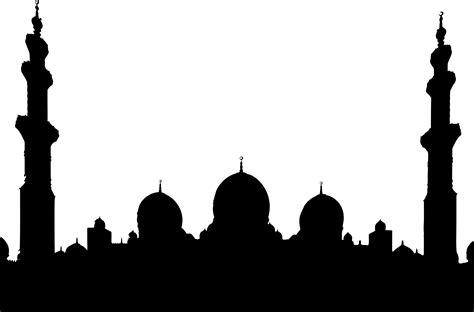masjid silhouette  getdrawings