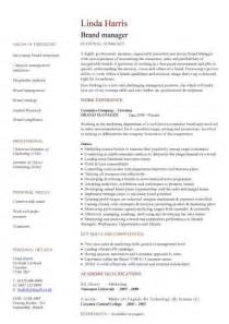 Brand Communications Manager Sle Resume by Management Cv Template Managers Director Project