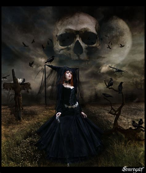 imagenes goticas brujas gothic witch and skull wallpapers metal gothic heavy