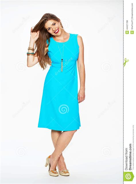 Dress Model Blue Fashion Impor fashion model with hair dressed in blue dress stock photo image 44421788