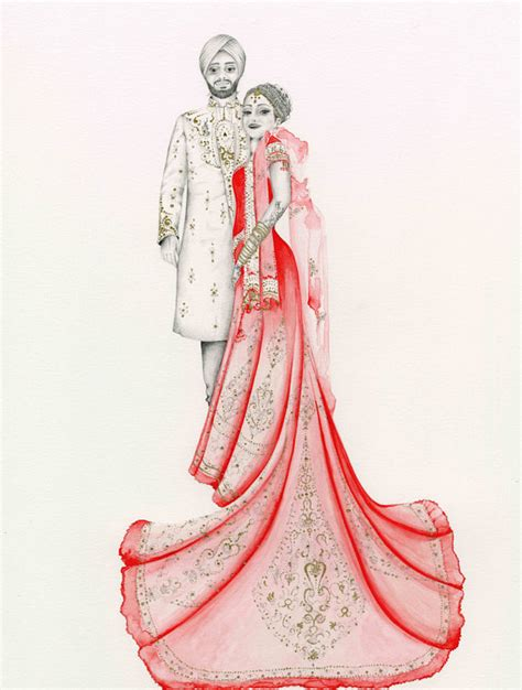 Wedding Gift Drawing by Anniversary Gift For Couples Personalized Couples Portrait