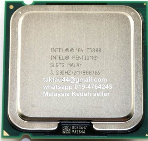 Processor Dual 28 Ghz intel pentium e5800 3 2ghz dual end 2 28 2018 6 35 pm