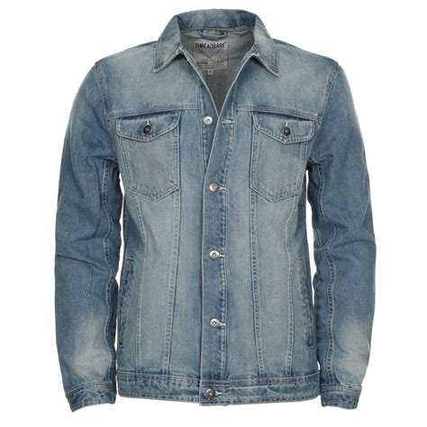 Mens Light Wash Denim Jacket by S Threadbare Light Blue Wash Denim Jacket