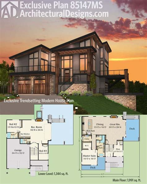 contemporary floor plans for new homes 7 modern house plans sles modern home