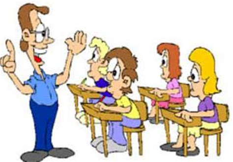 free clipart picture of a teacher giving a lesson to his class