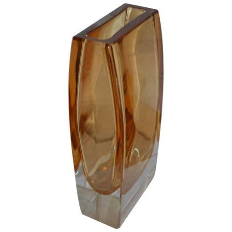 Large Rectangular Vase by Large Yellow Rectangular Murano Vase For Sale At 1stdibs
