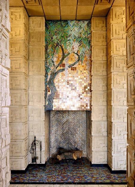 frank lloyd wright mosaic fireplace mosaics inspiration