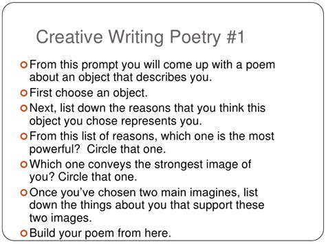 Creative College Essay Topics by Creative Writing Poetry Prompts