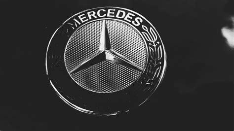 mercedes logo black background mercedes logo wallpapers wallpaper cave