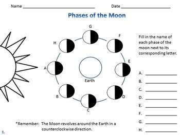 Printable Quiz On Phases Of The Moon | phases of the moon moon phases quiz by the teacher down