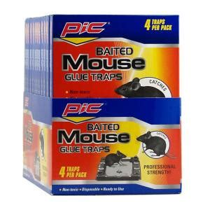 pic baited mouse glue traps 48 pack gt 4 h the home depot