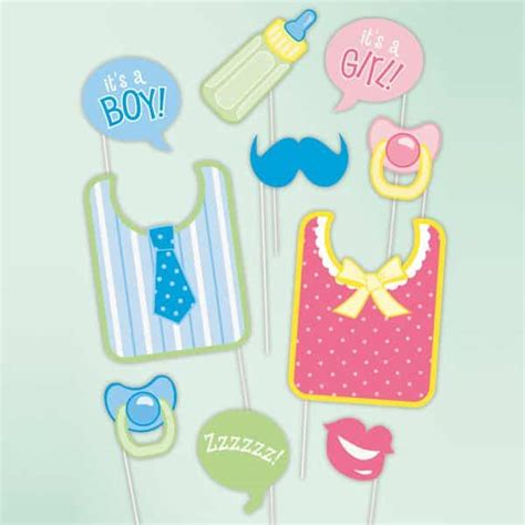 baby shower photo booth props supplies