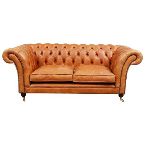 Chesterfield Sofa Brown Leather Light Brown Leather Chesterfield Sofa For Sale At 1stdibs