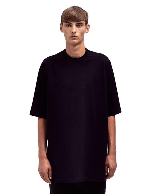 Black Blouse Oversized Kemeja Polos Diskon lyst rick owens mens oversized crew neck t shirt in black for