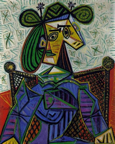 picasso woman in an armchair woman sitting in an armchair lone quixote