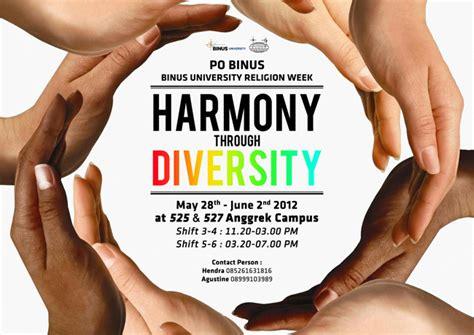 harmony  diversity binus university