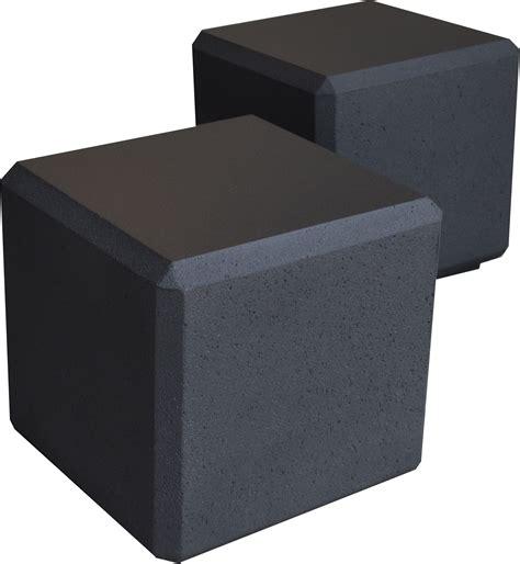 beton cube banc cube beton noir