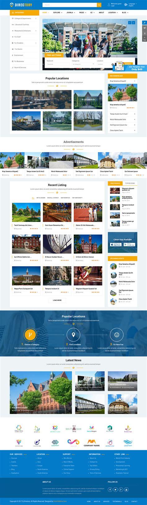 joomla category blog layout exle directory responsive ultimate directory joomla template