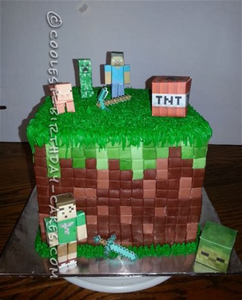 30+ coolest homemade minecraft cakes for birthday parties
