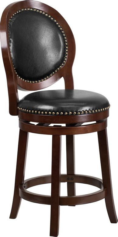 Maple Bar Stools With Leather Seats by 26 High Cappuccino Counter Height Wood Stool With Black