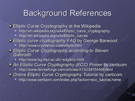 cryptography tutorial elliptic curvecryptography shane almeida saqib awan dan