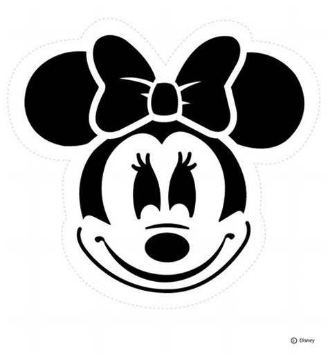 minnie mouse template for pumpkin carving minnie mouse color pages coloring pages gallery
