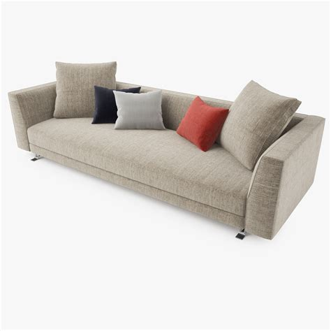 sofa brton busnelli burton sofa collection 3d model max obj fbx