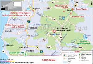 crater lake national park oregon usa map facts best