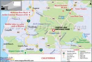 crater lake national park oregon us map weather