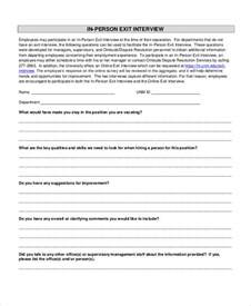 exit forms templates exit form 9 free pdf word documents