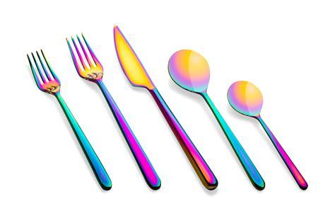 Set Liena cutlery linea rainbow mepra store co uk