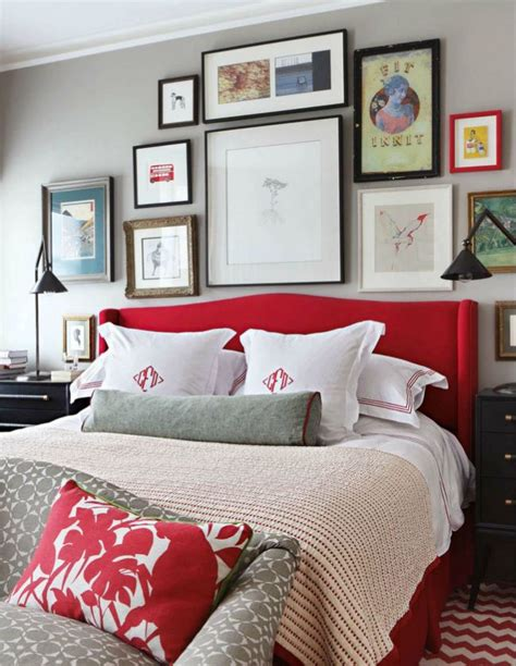 Red And Gray Bedroom | master bedroom grey and red palette grey red bedroom