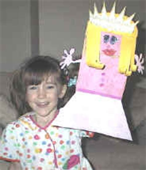 Paper Bag Princess Craft - free stick patterns for retelling the paperbag princess