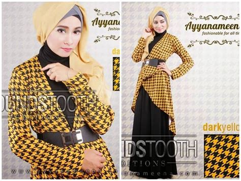 Dress Pesta Quine By Ayyanameena baju muslim gaya houndstooth edition by ayyanameena