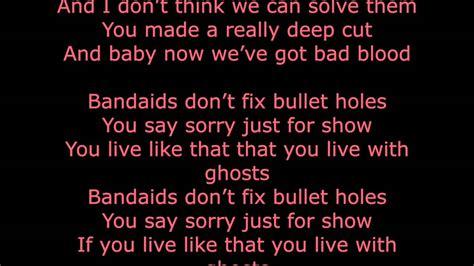 black rat swing lyrics bad blood by taylor swift full lyrics youtube