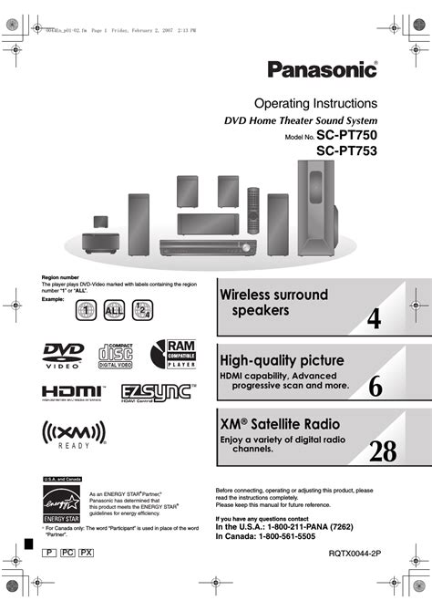 panasonic sc pt user manual  pages   scpt